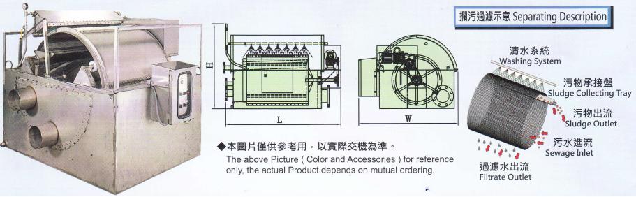 máy lọc rác tang trống - DF series