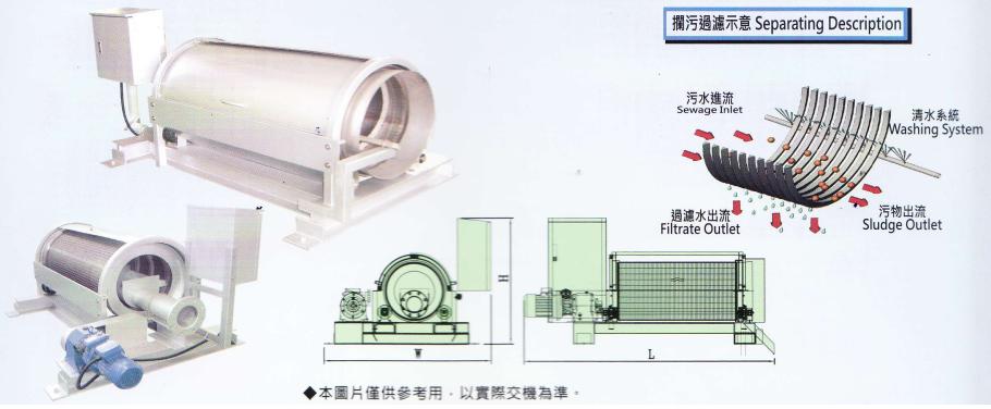máy lọc rác tang trống - DG series