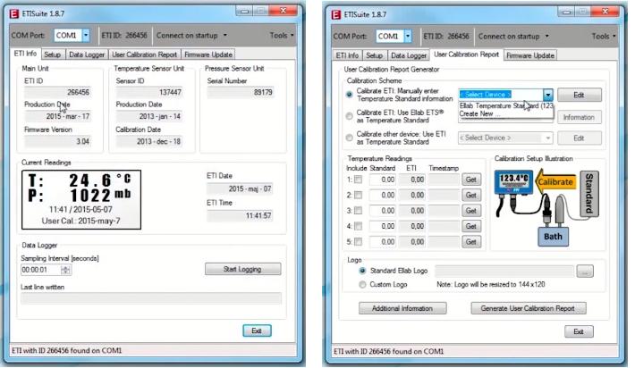 Phần mềm thiết bị theo dõi nhiệt độ nồi hấp ETISuite