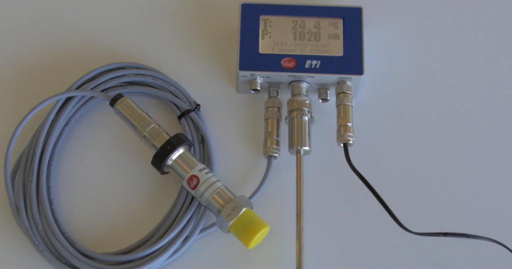 Thiết bị theo dõi nhiệt độ và áp suất của nồi hấp