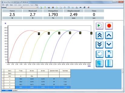 Máy đo độ bền kéo đứt - phần mềm