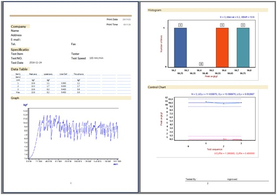máy đo độ bền kéo đứt-kết quả hiển thị