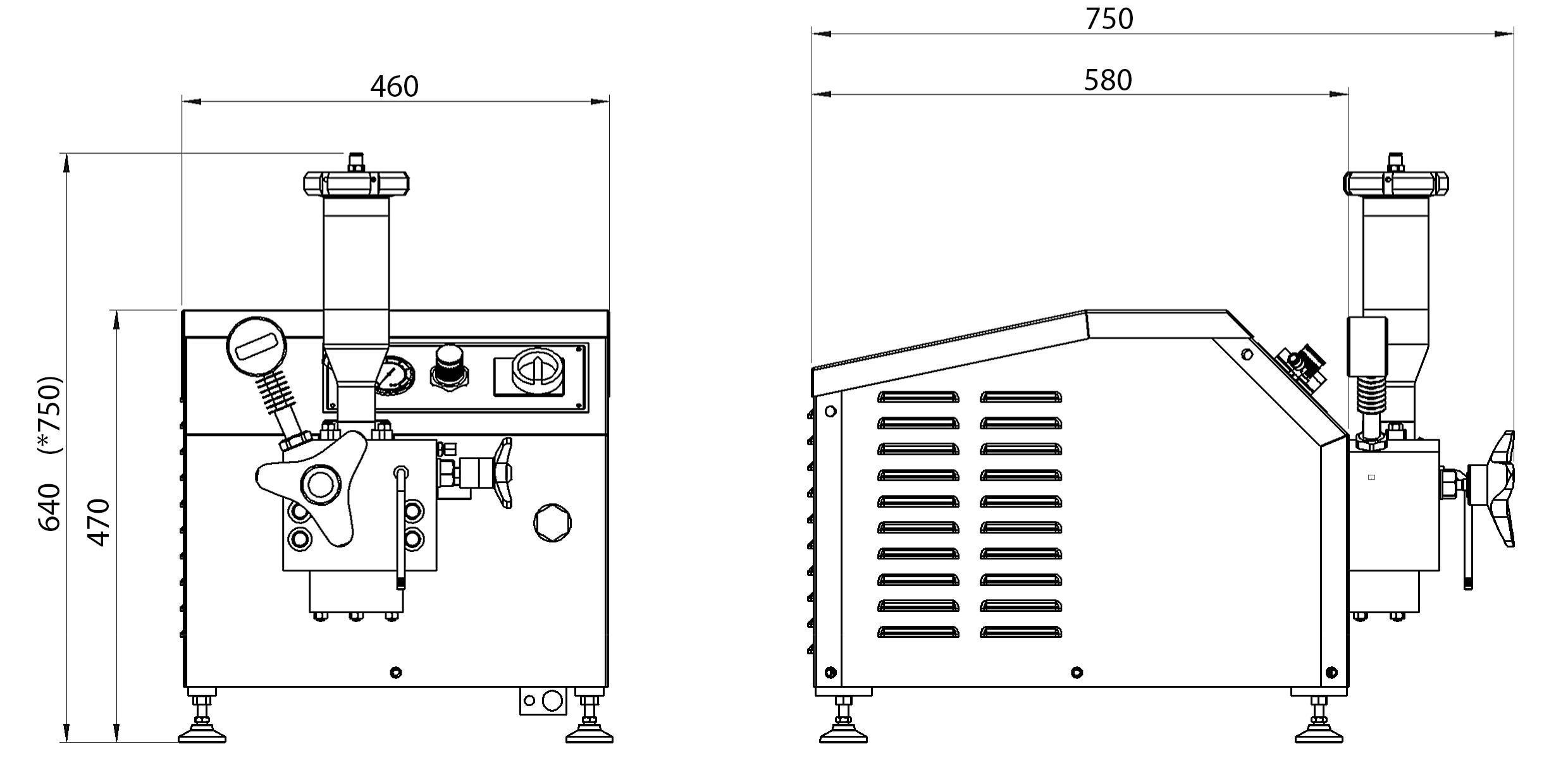 Máy đồng hóa áp suất cao - bản vẽ kỹ thuật