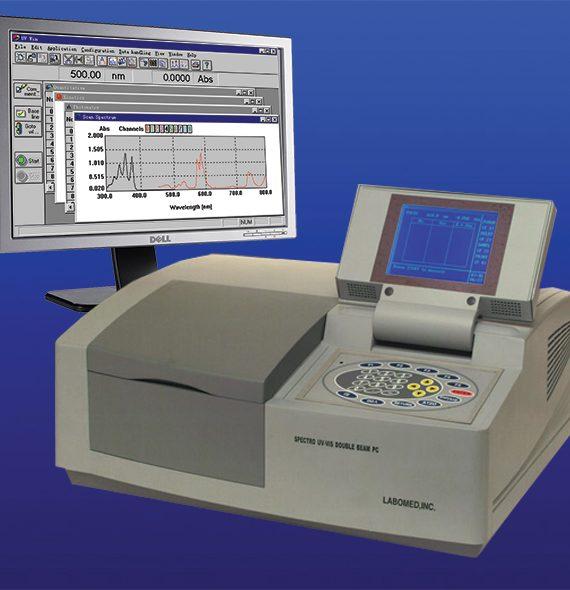 Máy đo quang phổ hai chùm tia model: UVD-2960