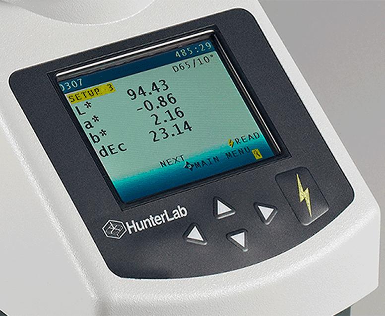 máy đo màu quang phổ - màn hình